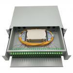 Best 48 port rack mounted fiber optic patch panel / wall mounted fiber optic terminal box / fiber optic distribution panel wholesale