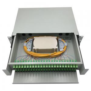China 48 port rack mounted fiber optic patch panel / wall mounted fiber optic terminal box / fiber optic distribution panel on sale
