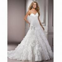 Best V-neck Organza A-line New Design Wedding Dress/Bridal Gown, Various Colors are Available wholesale