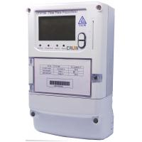 China IC Card Operated 3 Phase Electric Meter , Terminal Cover Prepaid Power Meters on sale