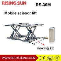 Cheap 3Ton pneumatic used middle rise mobile car lift for auto garage for sale