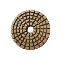China 4 inch round resin floor diamond polishing pad for concrete and glass on sale