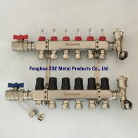 China 6 Way Underfloor Heating Stainless Steel Water Manifold ,  Manifolds for Underfloor Heating/Cooling on sale