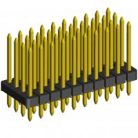 """Best Quadruple row 100"""" 2.54mm pitch right angle male pin headers, board to board connector wholesale"""