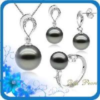 Best 14k Gold Tahitian Pearl Jewelry Set (ST80410) wholesale