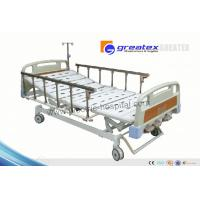 Best Home care hospital beds with rails , Three Revolving Levers Manual Medical Bed wholesale