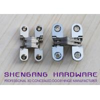 China Door Hardware Invisible Stainless Steel Hinges With Satin Chrome Finish on sale