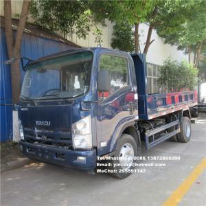 China ISUZU 700P 190HP 5TON 7TON 4000MM TIPPER BOX mini dump truck 4x2 6 cubic meter dump truck on sale