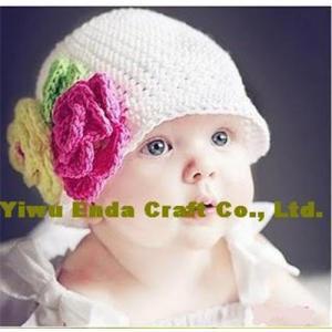China 100% hand  crochet kufi hat, crochet girl's beanie hat on sale