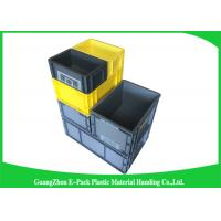 Cheap 45 Litre Euro Plastic Storage Boxes , Industrial Storage Bins Light Weight PP for sale
