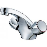 China Polished Metered Two Cross Handle One Hole Basin Tap Faucets With Ceramic Cartridge on sale