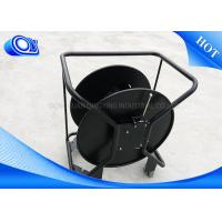 China Non Armored / Armored Tactical Fiber Optic Cable Reel Black Color on sale