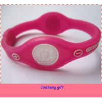 China 2014 colorful magnetic balance silicon power bracelet on sale