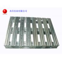 China Galvanised Stackable Steel Pallets Loading Firmly 2 Way Or 4 Way Entry Type on sale
