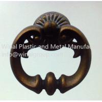 Best Antique brass pull ring door handle,furniture drawer handle,L70mm*W64mm.decorated&durable. wholesale