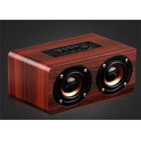 Cheap Wooden Bluetooth Stereo Speaker 10W Wireless Portable Speaker Dual Loudspeakers HIFI Subwoofer with Mic TF Card Slot AUX for sale