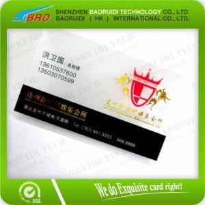 Best Custom Printing Transparent Plastic Business Card wholesale