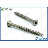 Best 304 Stainless Steel Decking Screws, Square Drive, Countersunk Head with 4 Nibs wholesale