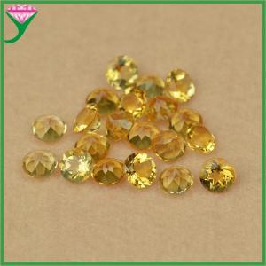 Best High quality 5MM yellow round brilliant cut natural mystic topaz gemstones wholesale