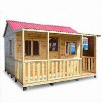 China Wooden Doll House with Chins Fir Timber, Suitable for Children on sale