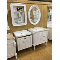 Buy cheap Wall Embossing Board Single Bowl Bathroom Vanities With Mirror 60cm from wholesalers