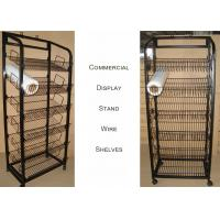Best Mulitple Shelves KD Structure Wire Rack Display / Light Duty Wire Retail Display Racks wholesale