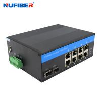 Best FCC Managed 8 Port Switch With 2 Sfp DIN Rail Mount Support Link Monitoring wholesale