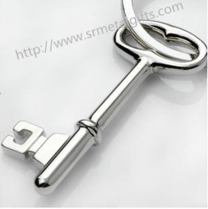 Best Metal key shape FOB pendant key chains, alloy key shaped drop pendant charming FOB keyring wholesale