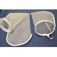 Best High Removal Efficiency Nylon Filter Bags , Filter Media Bags With Steel Ring wholesale
