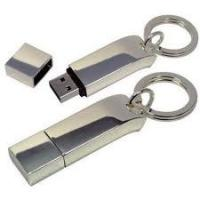 China OEM Custom Engraved metal USB keychains 4GB with LED Indicator Light on sale