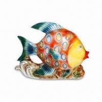 Best Ceramic Colorful Tropical Fish Decoration in Glazed Finish, OEM Services are Provided wholesale