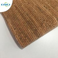 Best 0.4±0.05mm Thick Thin Cork Roll , Wine Cork Fabric For Shoes Bags Wallpaper wholesale