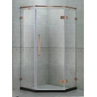 China Green Bronze Hinge Swing Shower Door Stainless Steel With 135 Degree Magnetic Seals on sale