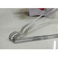 China Beautiful Plastic Coated Wire Hangers , White Metal Coat Hangers For Laundry Room on sale