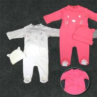 Cheap Full Cotton Newborn Baby Clothes Set Baby Dress 180G 100% Cotton Interlock for sale