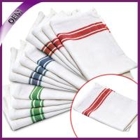 China Cheap Wholesale 100% Cotton Striped Design Kitchen Towel, Dish Towel With Tie on sale