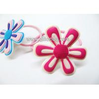 Best Free sample fabric sunflower shape hair ring hairpin for girls wholesale