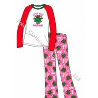 China Girl's Pajamas Polyester Two Pieces Set on sale