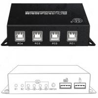 China 4 Port USB KM Switch Synchronizer Keyboard And Mouse Simultaneously Controls on sale