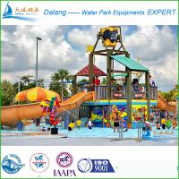 Buy cheap Commercial Waterpark Equipment , 20 x 15 x 10m Fuuny Pool Slides from wholesalers