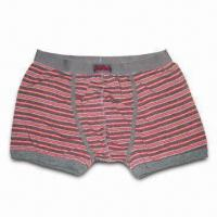 China Boxer Briefs for Men, Made of 95% Cotton and 5% Elastane, Available in Various Sizes and Colors on sale
