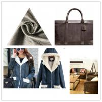 China Thick Faux Suede Leather Fabric Waterproof Flame - Retardant For Garments on sale