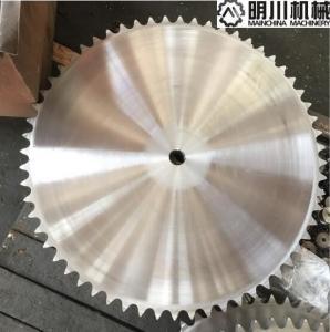China 40 - 55HRC 45C Ball Bearing Idler Sprocket / Ansi Roller Chain Sprockets 120B60 on sale