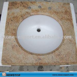 Best Golden granite vanity tops ,Bathroom travertine vanity  ,granite bathroom vanity tops,granite worktops wholesale