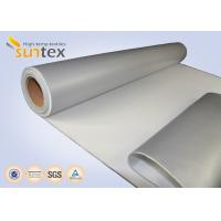 China 14 OZ Insulation Material Grey Coating Fabric With Silicone For Covers And Jackets on sale