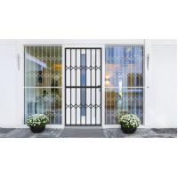 Best Grey Tempered Glass Aluminium Sliding Security Doors Customized Shape wholesale