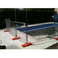 Best 1100mm height x 2350mm width temporary pool fencing hot dipped galvanized base size 600x80x220mm wholesale