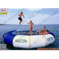 Best Moonwalk Inflatable Water Game / Inflatable Jumping Bouncer For Sea wholesale