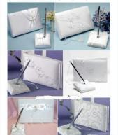 China wedding pen set and guest book on sale