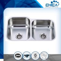 Best stainless steel kitchen sink with 60/40 for USA market with 18gauge and 16gauge wholesale